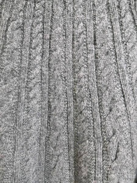 バーバリーロンドン ポンチョ サイズF レディース美品  ダークグレー ニット