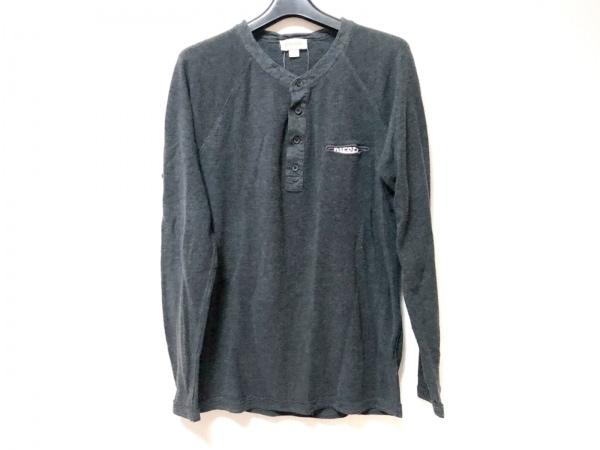 DIESEL(ディーゼル) 長袖セーター サイズL メンズ ダークグレー×ライトグレー