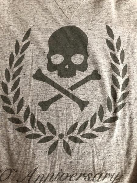 HYDROGEN(ハイドロゲン) 長袖Tシャツ サイズL メンズ グレー×ダークグレー スカル
