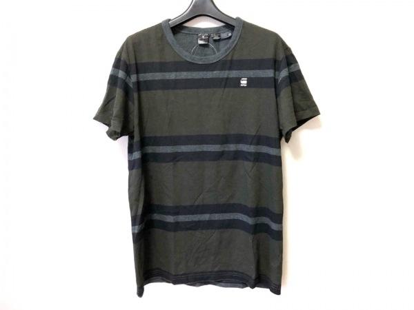 G-STAR RAW(ジースターロゥ) 半袖Tシャツ サイズM メンズ カーキ×黒×ダークグレー