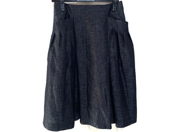 FOXEY(フォクシー) スカート サイズ40 M レディース美品  黒×シルバー