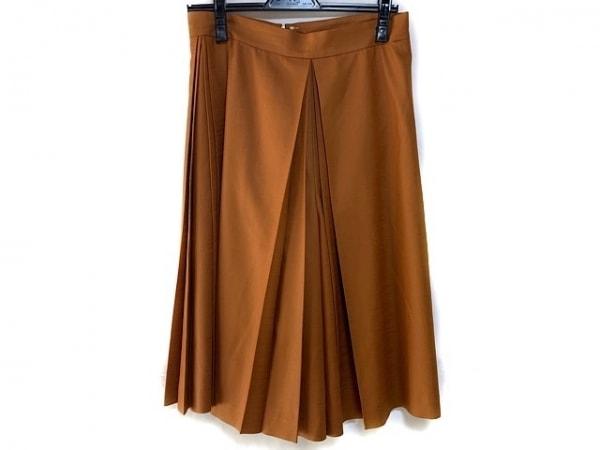 フォクシーニューヨーク パンツ サイズ40 M レディース ライトブラウン プリーツ