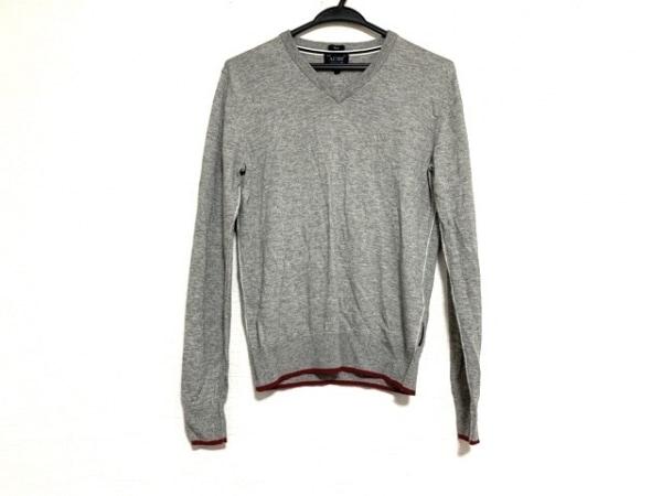 ARMANIJEANS(アルマーニジーンズ) 長袖セーター サイズS メンズ美品  グレー Vネック