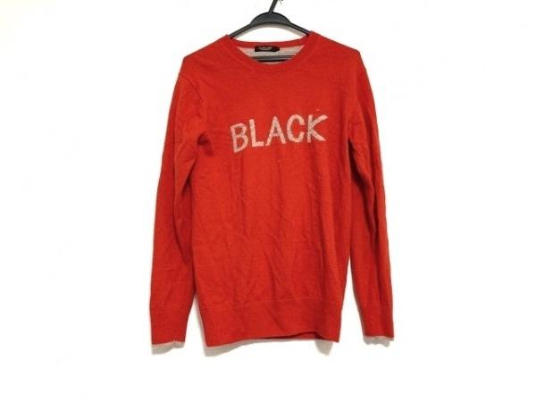 バーバリーブラックレーベル 長袖セーター サイズ2 M メンズ美品  レッド×ベージュ