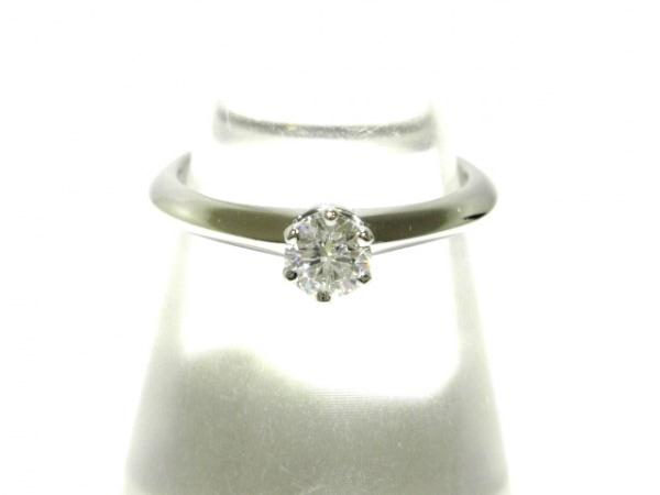 ティファニー リング美品  ソリティアダイヤモンドリング Pt950×ダイヤモンド