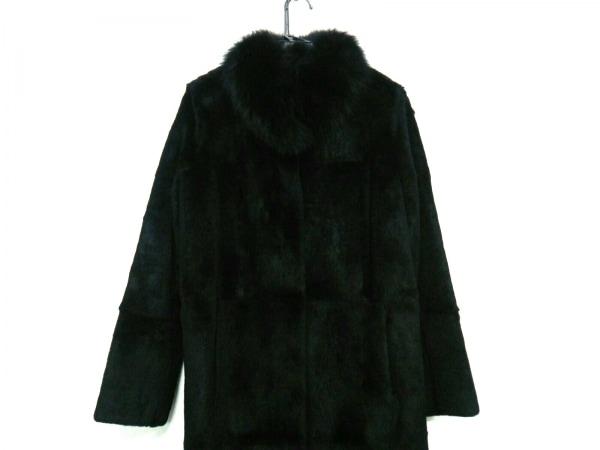 マックスマーラスタジオ コート サイズJ 40 レディース 黒 ファー/冬物