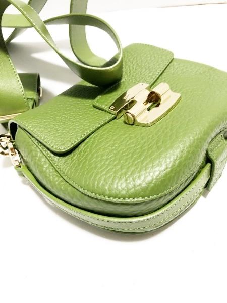 FURLA(フルラ) ショルダーバッグ美品  グリーン ミニサイズ レザー