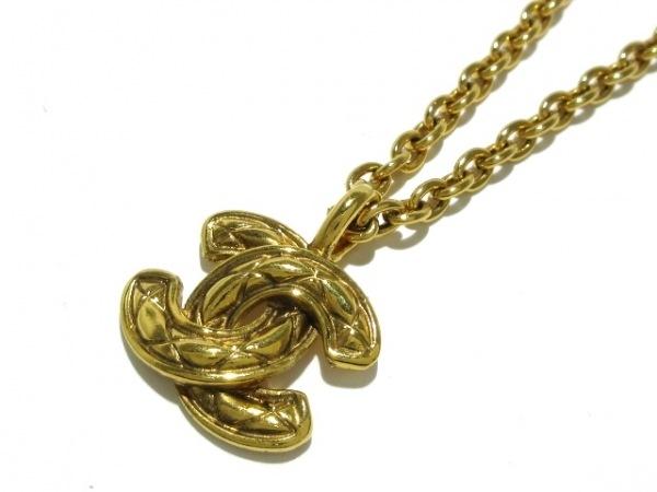 CHANEL(シャネル) ネックレス マトラッセ 金属素材 ゴールド ココマーク