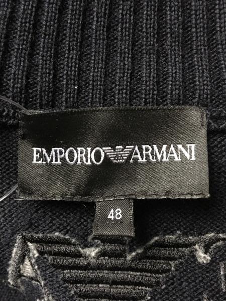 エンポリオアルマーニ ブルゾン サイズ48 M メンズ 黒 ニット/冬物 3