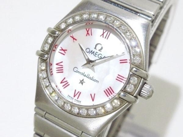 オメガ 腕時計 コンステレーション 1476.63 レディース SS/ダイヤベゼル/シェル文字盤