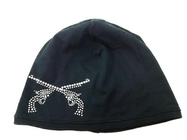 roar(ロアー) ニット帽 1 黒×シルバー ラインストーン コットン