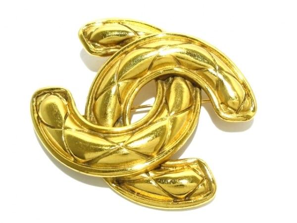 CHANEL(シャネル) ブローチ マトラッセ 金属素材 ゴールド ココマーク