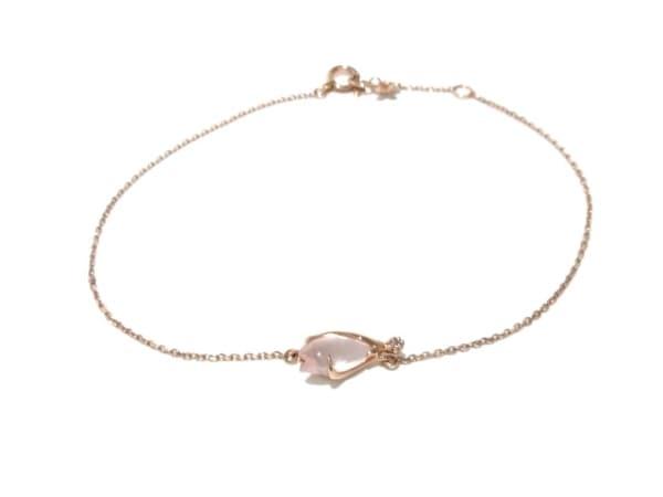 スタージュエリー ブレスレット美品  K10×ダイヤモンド×カラーストーン ピンク
