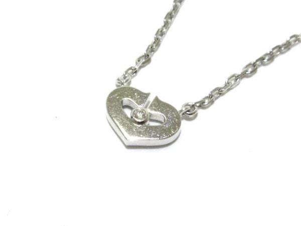 Cartier(カルティエ) ネックレス美品  Cハート K18WG×ダイヤモンド