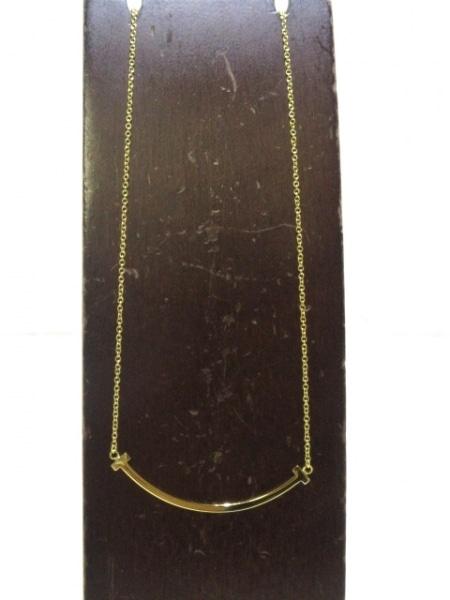 ティファニー ネックレス美品  Tスマイル K18YG 総重量3.0g/ 2
