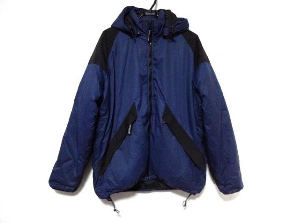 マスターピース ダウンジャケット サイズL メンズ ネイビー×黒 冬物/フード取外し可