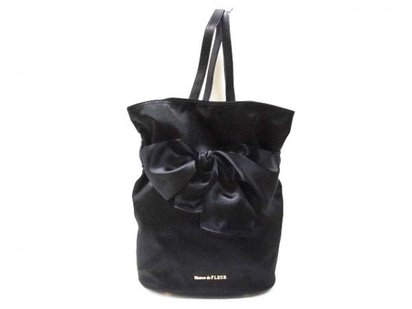 Maison de FLEUR(メゾンドフルール) リュックサック美品  黒 ポリエステル×合皮