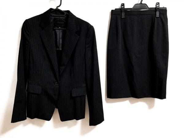 UNTITLED(アンタイトル) スカートスーツ サイズ2 M レディース 黒 ストライプ