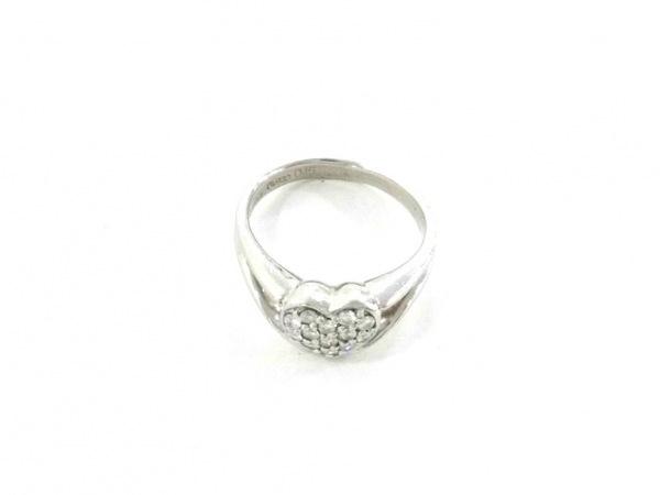 ノーブランド リング美品  Pt900×ダイヤモンド クリア 総重量:5.1g/Garbo 0.15刻印