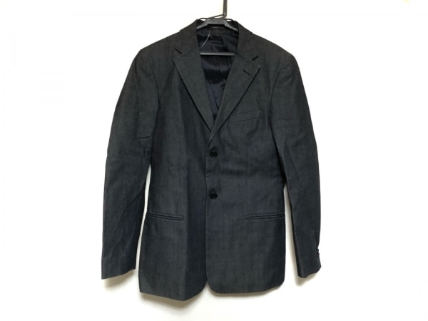 エンポリオアルマーニ ジャケット サイズ44 S メンズ美品  ダークグレー デニム