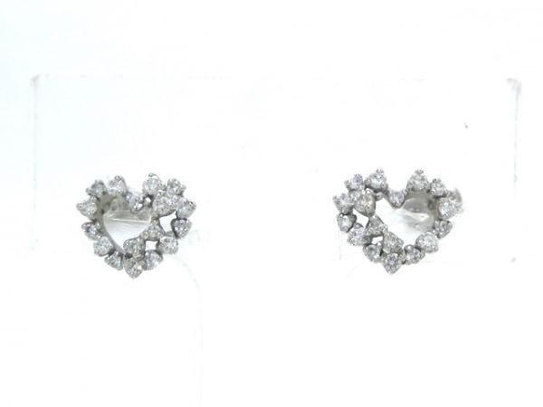 PonteVecchio(ポンテヴェキオ) ピアス K18WG×ダイヤモンド 0.3カラット/ハート
