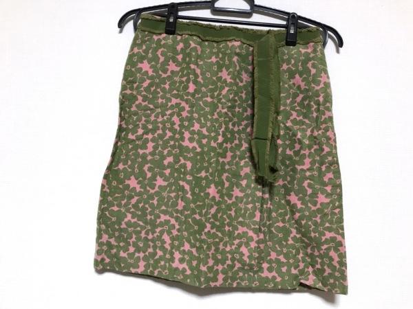 モスキーノ チープ&シック スカート レディース ダークグリーン×ピンク 花柄
