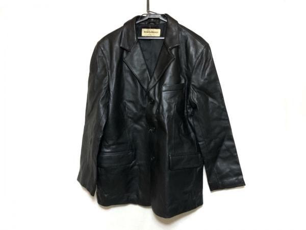 ROBERTO MASSINI(ロベルトマッシーニ) ジャケット サイズL メンズ美品  黒 ラムレザー