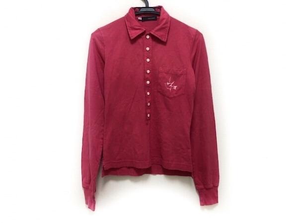 ディースクエアード 長袖ポロシャツ サイズS レディース ピンク ダメージ加工
