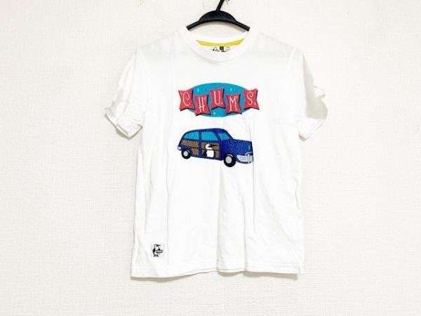 CHUMS(チャムス) 半袖Tシャツ サイズWM レディース美品  アイボリー×レッド×マルチ