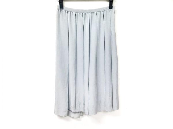 PRADA(プラダ) スカート サイズ40 M レディース ライトグレー プリーツ