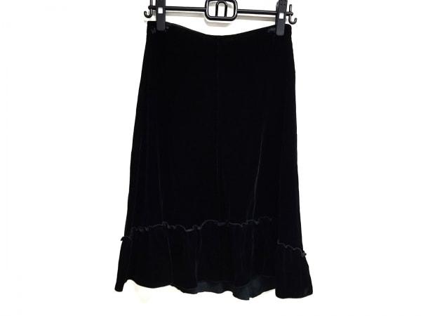 JILSANDER(ジルサンダー) スカート サイズ34 XS レディース 黒 ベロア