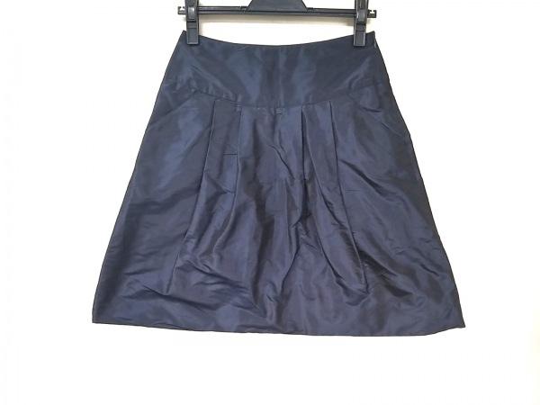 マウリツィオペコラーロ スカート サイズ40 M レディース ダークネイビー