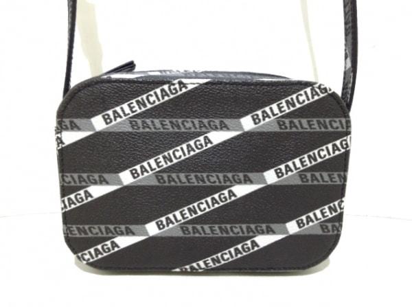バレンシアガ ショルダーバッグ エブリデイ カメラバッグ XS 552372 黒×白×グレー