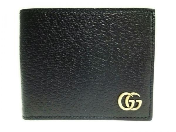 GUCCI(グッチ) 札入れ美品  GGマーモント 435303 黒 レザー