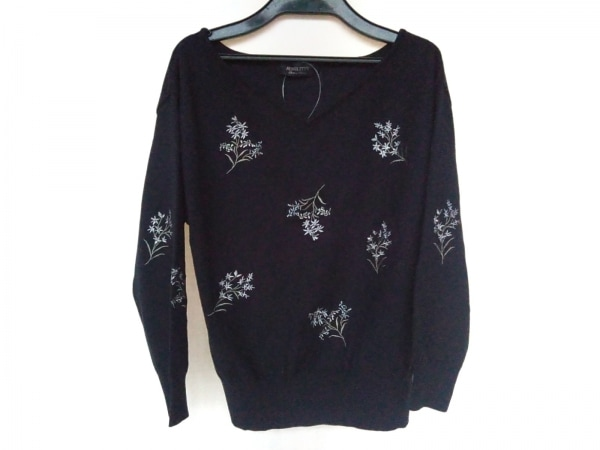 ジャスグリッティー 七分袖セーター サイズ2 M レディース新品同様  刺繍/フラワー