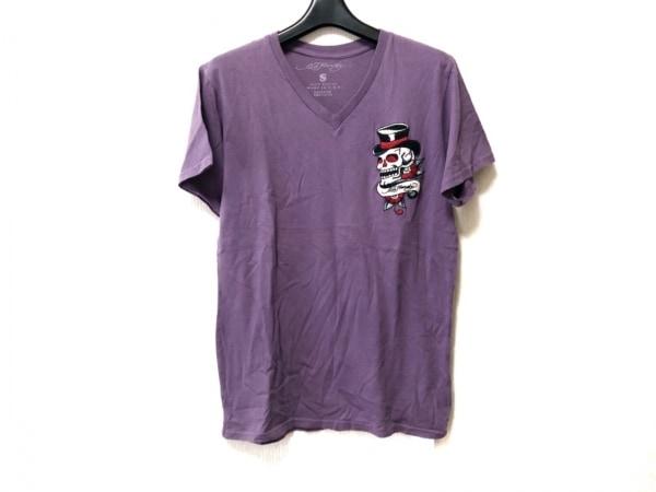 Ed Hardy(エドハーディー) 半袖Tシャツ サイズS メンズ パープル×マルチ スカル/刺繍