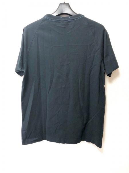DIESEL(ディーゼル) 半袖Tシャツ サイズM メンズ 黒×オレンジ
