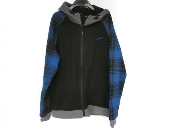 O'NEIL(オニール) ブルゾン サイズS メンズ美品  黒×ブルー×グレー