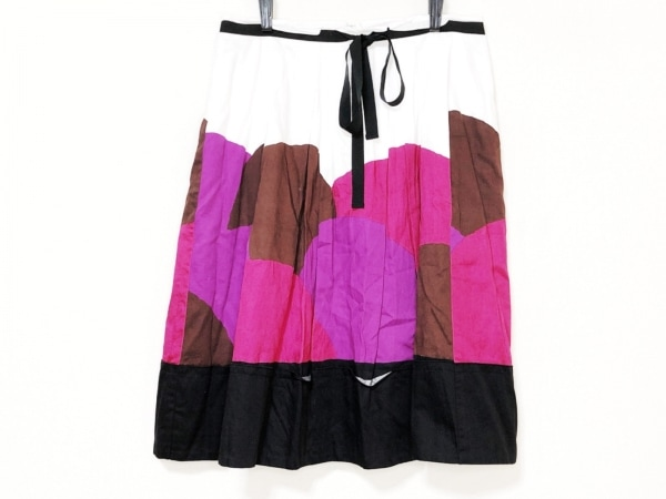 SONIARYKIEL(ソニアリキエル) スカート サイズ38 M レディース 白×パープル×マルチ