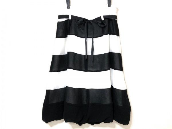 SONIARYKIEL(ソニアリキエル) スカート サイズ38 M レディース 白×黒 ボーダー