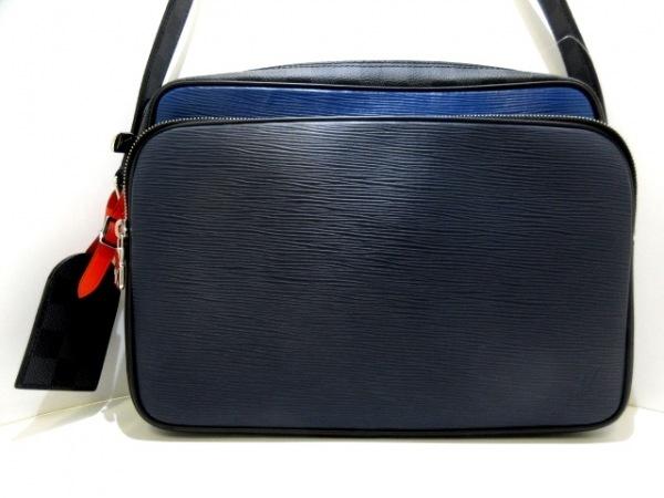 ルイヴィトン ショルダーバッグ エピ ナイルNM M51466 黒×ブルー×レッド