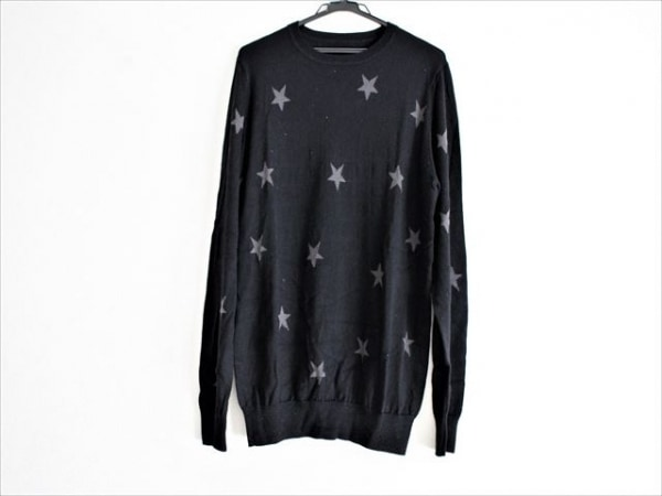 SOPHNET(ソフネット) 長袖セーター サイズXL メンズ美品  黒×グレー スター