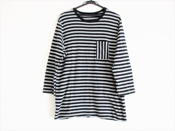 SOPHNET(ソフネット) 長袖Tシャツ サイズL メンズ 黒×グレー ボーダー