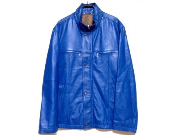 barassi(バラシ) ブルゾン サイズ46 XL メンズ ブルー 冬物/レザー
