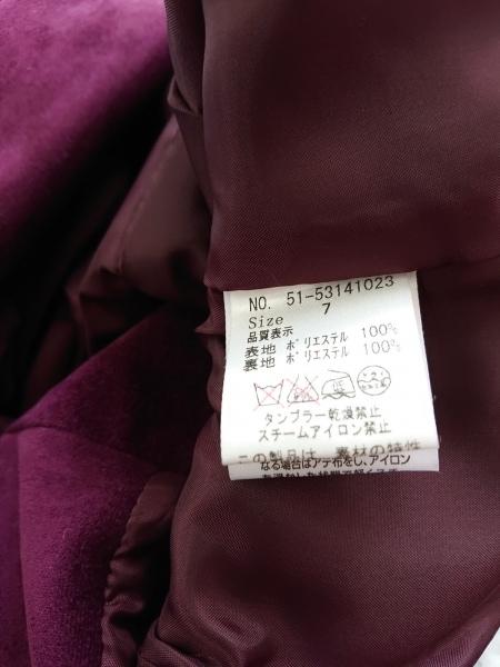 ef-de(エフデ) ジャケット サイズ7 S レディース ボルドー ベロア