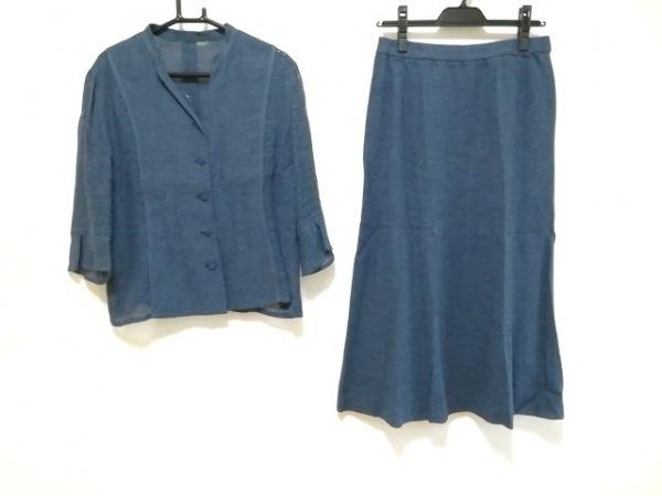 Leilian(レリアン) スカートスーツ サイズ11 M レディース新品同様  ネイビー