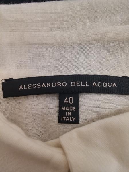 アレッサンドロデラクア 長袖シャツブラウス サイズ40 M レディース 黒×ベージュ