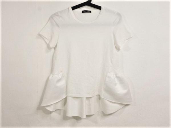 YOKO CHAN(ヨーコ チャン) 半袖Tシャツ サイズ36 S レディース 白 異素材切替