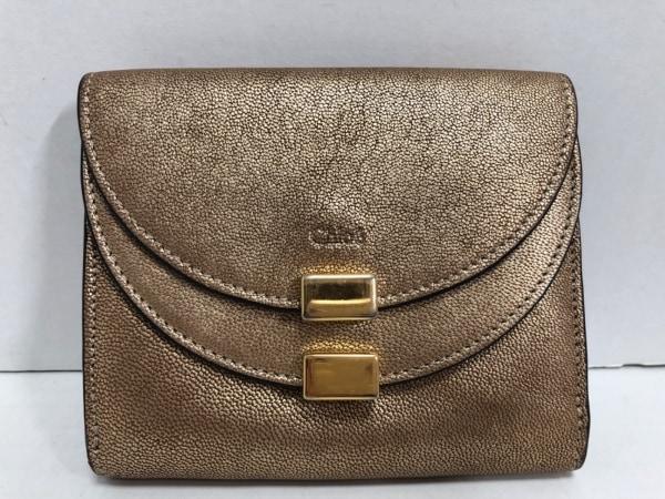 Chloe(クロエ) 2つ折り財布 - P285H92B-BFF ゴールド レザー