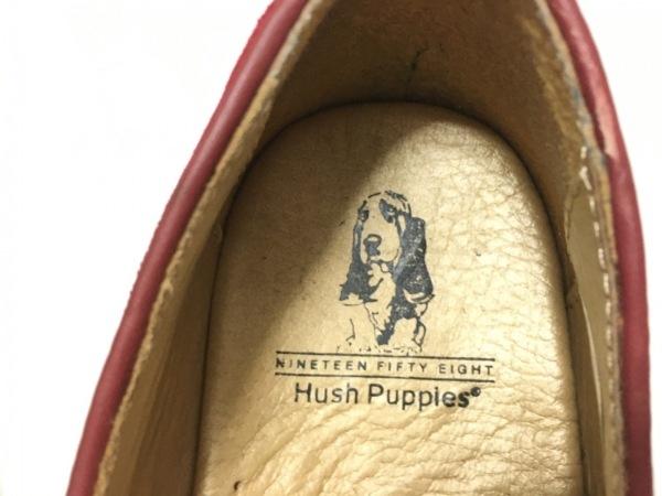 HUSH PUPPIES(ハッシュパピーズ) シューズ 6.5 レディース レッド スエード